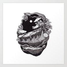 black nature Art Print