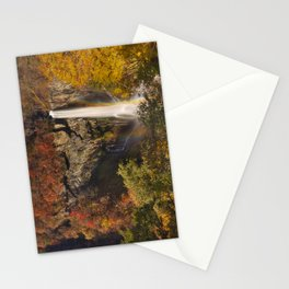 Kegon Falls near Nikko, Japan in autumn Stationery Cards