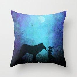Wolf Whisperer Throw Pillow