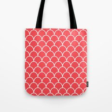 Salmon Pink Scallops Tote Bag