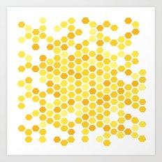 Beehive Pattern by Friztin Art Print