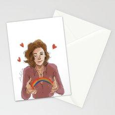 I study Rainbow Stationery Cards