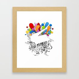 Power of Piano  Framed Art Print