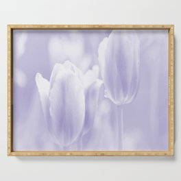 Day dream in shades of violet - spring atmosphere Serving Tray