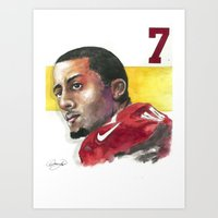 49ers Art Prints featuring Colin Kaepernick-49ers by Anthonylanza