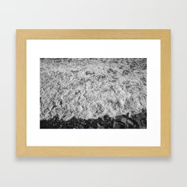San Elijo Waves Framed Art Print