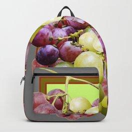 DECORATIVE PURPLE & GREEN GRAPE CLUSTER DESIGN Backpack