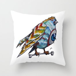 Mutant Birdy Throw Pillow
