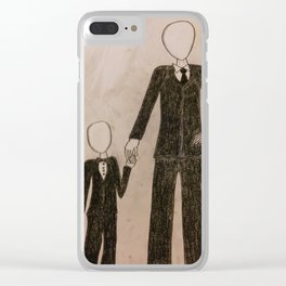 Slenderman & Child Clear iPhone Case