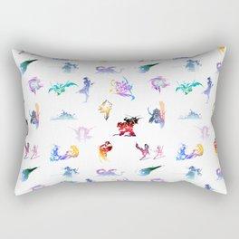 final fantasy logo pattern Rectangular Pillow