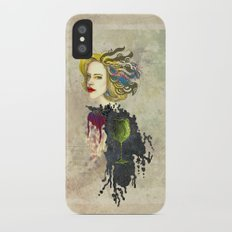 retro woman iPhone X Slim Case