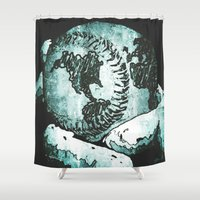 atlas Shower Curtains featuring Atlas Grip by Jerry Watkins
