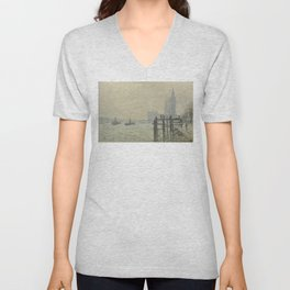 Claude Monet - The Thames Below Westminster Unisex V-Neck