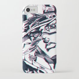Jotaro Kujo from Jojo's bizarre adventure affected by Whitesnake iPhone Case