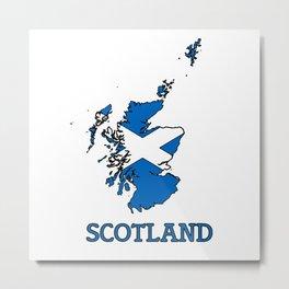 scotland-flag-logo Metal Print