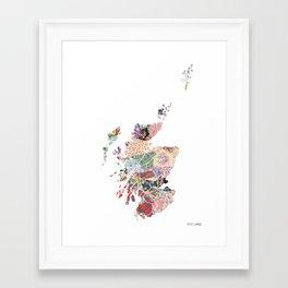 Scotland map - Portrait Framed Art Print