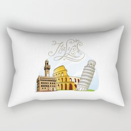 Italy with significant buildings Rectangular Pillow