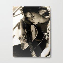 Guitar Girl. Metal Print
