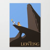 the lion king Canvas Prints featuring Lion King by TheWonderlander