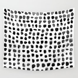 Watercolor Dots Wall Tapestry