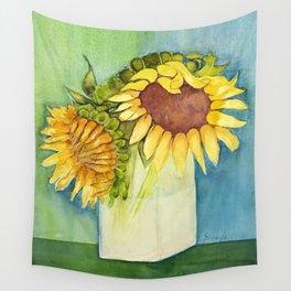 Sleepytime Sunflowers Wall Tapestry