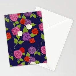Moody Blue Florals Stationery Cards