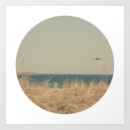 Tranquility Beach Ocean Seaside Neutral Fine Art Prints  Art Print