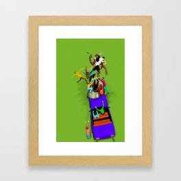 KungFu Werewolf vs Zombies from the 80s Framed Art Print