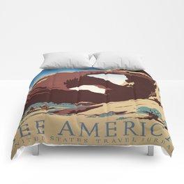 Vintage poster - Southwest US Comforters