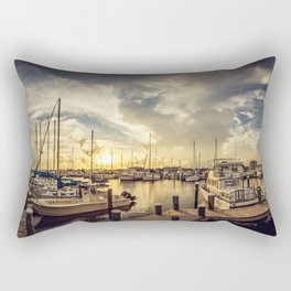 Summer Harbor Sunset Rectangular Pillow