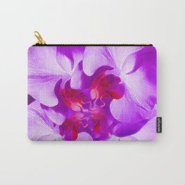 Abstract Orchid In Lavender Carry-All Pouch