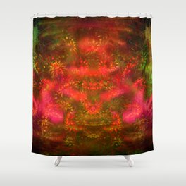 Luminous Fireplace Shower Curtain