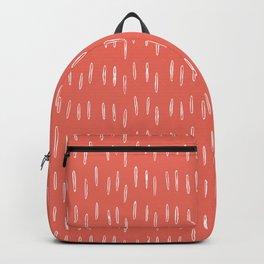Boho, Raindrop, Mudcloth, Coral Backpack