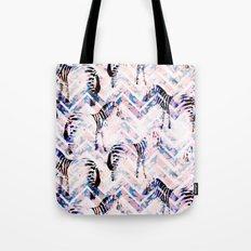 Zebras in bloom Tote Bag