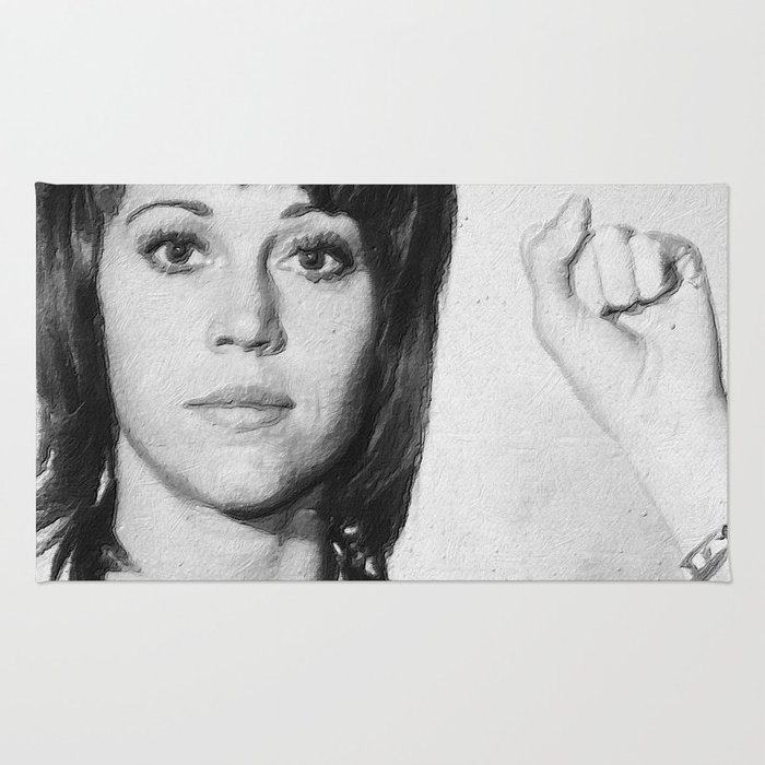 Jane Fonda Mug Shot Vertical Rug