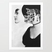 inner demons Art Prints featuring Inner Demons by Tyler Spangler