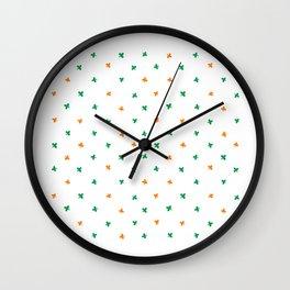 Irish Colors St Patricks Pattern Wall Clock