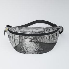 Venice Canal BW Fanny Pack