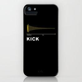 Drum Kick As A Waveform - Drum Kick iPhone Case