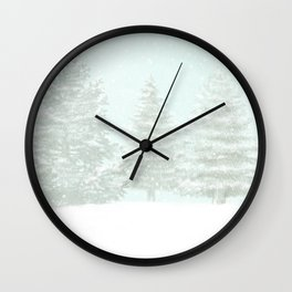 Winter Moose Wall Clock