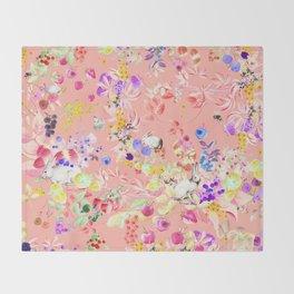 Soft bunnies pink Throw Blanket