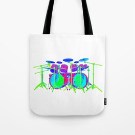 Colorful Drum Kit Tote Bag