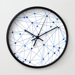 Network background. Connection concept. Wall Clock