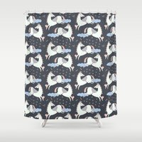 pony Shower Curtains featuring Pony Dream by Veils and Mirrors