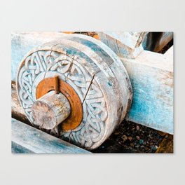 Celtic Trebuchet Wheel Canvas Print