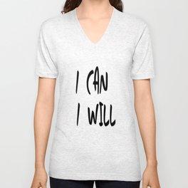I Can. I Will. Unisex V-Neck