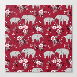 Alabama university crimson tide elephant pattern college sports alumni gifts Canvas Print