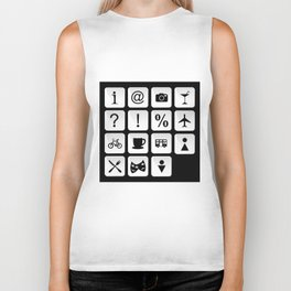 Tourist travel icon set Biker Tank