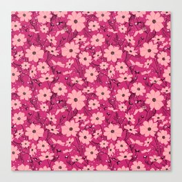 Cosmea pink Canvas Print