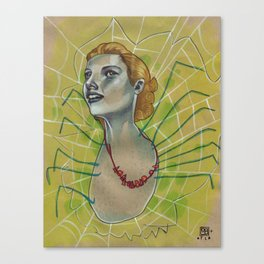 SPIDER WITH NECKLACE Canvas Print